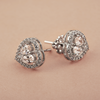 Anya Elegant Fancy Shaped Swarovski Zirconia Stud Earrings