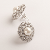 Clovia Fancy Design Swarovski Zirconia Pearl Stud Earrings