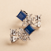 Brezza Blue & White Mix-Shaped Swarovski Zirconia Earrings