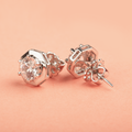 Ivana Elegant Round Shape Swarovski Zirconia Stud Earrings