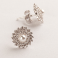 Jiah Mix-shaped Swarovski Zirconia Pearl Stud Earrings