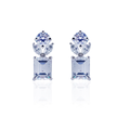 Virgin White Silver Stud Earrings with Swarovski Zirconia