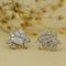 Harmonious Silver Stud Earrings with Fusion of Fancy Shaped Swarovski Zirconia
