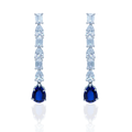 Brizy Drop Silver Earrings with Mixed Shape Swarovski Zirconia