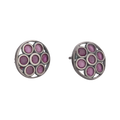 Nysa Classic Pink Silver Stud Earrings