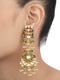 Gracy Green Gold Polished Oversized Earrings With Pearl