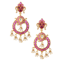 Prisha Pink Gold Plated Silver Earrings
