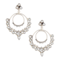 Asiya Sterling Silver Chandbali With Love Pearl