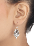 Risha Tribal Silver Earrings