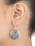 Elena Elegant Tribal Silver Earrings