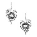 Suhana Leaf Design Sterling Silver Earrings