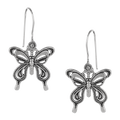 Lovely Butterfly Sterling Silver Earrings