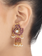 Vanessa Peacock Design Gold Plated Jhumkis