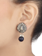 Vinaya Blue Sterling Silver Drop Earrings