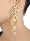 Trisha Gold Plated Kundan Silver Dangler Earrings With Pearls
