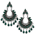 Evana Tribal Silver Earrings