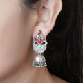 Julia Crown Silver Jhumkis