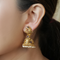 Anita Gold Plated Jhumkis With Deity Motif