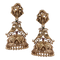 Nemali Gold Plated Jhumkis with Peacock Motif