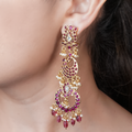 Jhalak Pink Studded Gold Plated Earrings