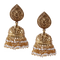 Tanishka Two Liner Gold Plated Jhumkis
