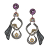 Kaavya Dual Tone Silver Earrings