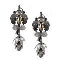 Inayat Dual Tone Silver Earrings with Peacock Motif