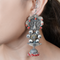 Shiya Silver Jhumki with Peacock Motif