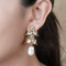 Jinisha Gold Plated Kundan Earrings