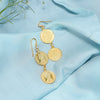 Trendy Silver Coin Earrings