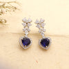 Passionate Heart Drop Earrings with Fancy Shaped Swarovski Zirconia