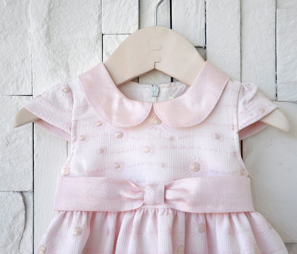 Sparkle Flower Baby Doll Dress Pink