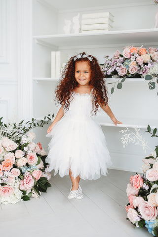 Sweet Feather Princess Dress White