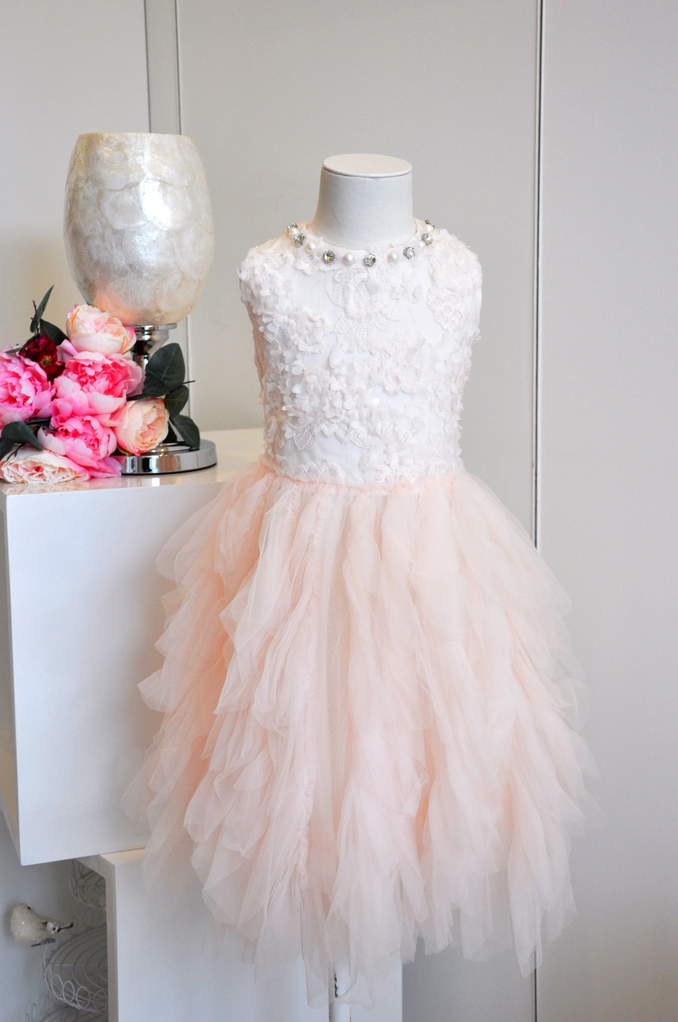 Little Princess Beaded Tutu Dress Petal Pink