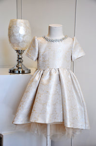 Elegant High-Low Dress Ivory