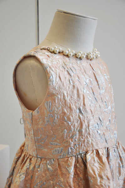 Pearl Necklace Elegant Dress Rose Blush