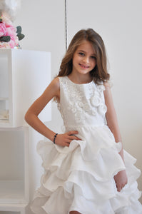 Rosie Fairy Ruffle Dress White