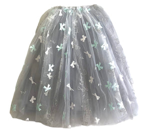 Melody Bow Tulle Skirt Mint