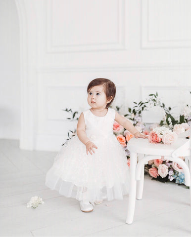 cute baby dress white wedding easter fashion style
