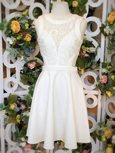 Midsummer Night Cutout Lace Dress White