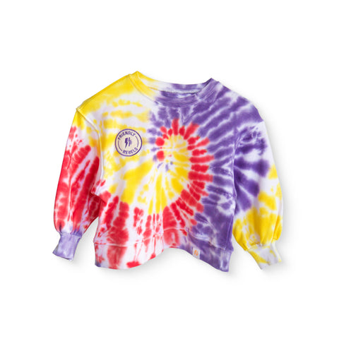 LITTLE FELLA REBELS- TIE DYE SWEATSHIRT