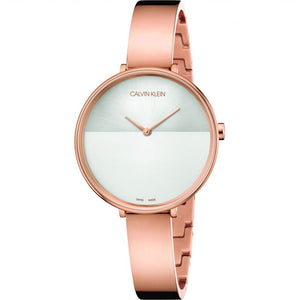 Calvin Klein Ladies Rose Gold Rise Watch