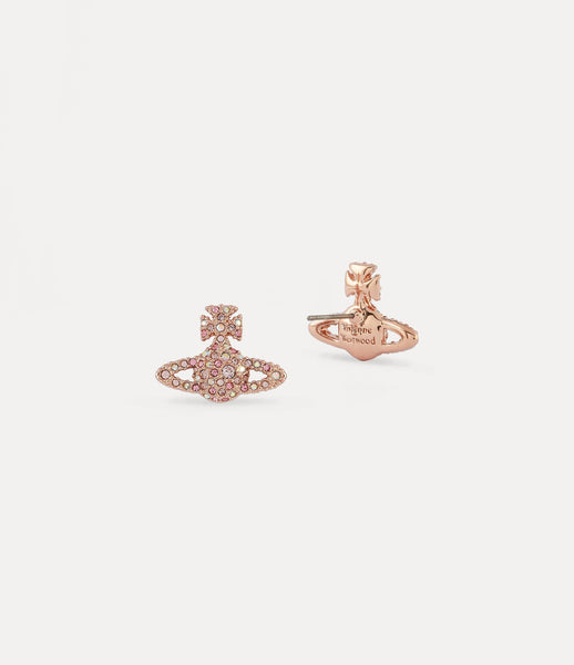 Vivienne Westwood Rose Gold Crystal Grace Stud Earrings