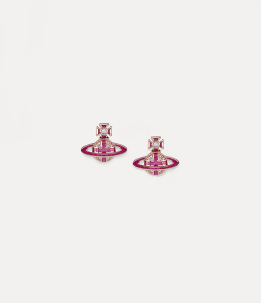 NEW- Vivienne Westwood Rose Gold Suffolk Bas Relief Earrings