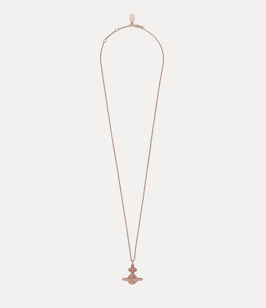 Vivienne Westwood Rose Gold and Crystal Grace Orb Necklace