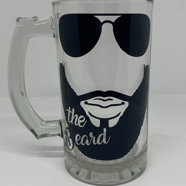 Beauty and the Beard Glass Set