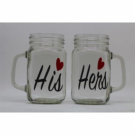His & Hers Mason Jar Set
