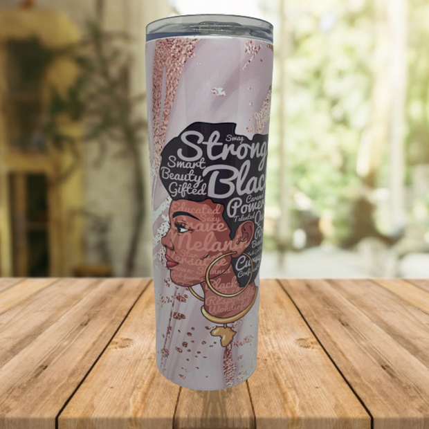 Black-Girl-Magic Skinny Tumbler