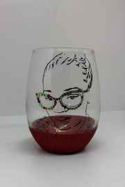 Custom Silhouette Picture Stemless Wine Glasses
