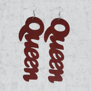 Queen Wooden Earrings